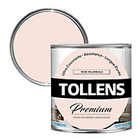Peinture Tollens premium murs, boiseries et radiateurs rose millennials mat 0,75L