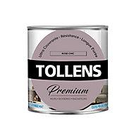 Peinture Tollens premium murs, boiseries et radiateurs rose de chic mat 0,75L