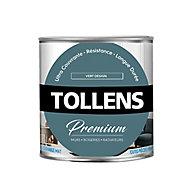 Peinture Tollens premium murs, boiseries et radiateurs vert design mat 0,75L