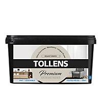 Peinture Tollens premium murs, boiseries et radiateurs sésame torréfié mat 2,5L