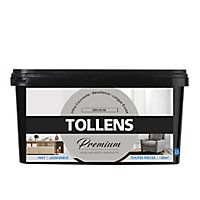 Peinture Tollens premium murs, boiseries et radiateurs gris rose mat 2,5L