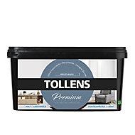 Peinture Tollens premium murs, boiseries et radiateurs reflets bleus mat 2,5L