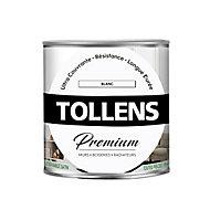 Peinture Tollens premium murs, boiseries et radiateurs blanc satin 0,75L