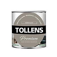 Peinture Tollens premium murs, boiseries et radiateurs marron glacé satin 0,75L
