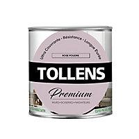 Peinture Tollens premium murs, boiseries et radiateurs rose poudré satin 0,75L