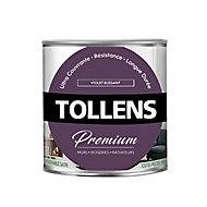 Peinture Tollens premium murs, boiseries et radiateurs violet élégant satin 0,75L