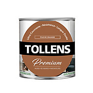 Peinture Tollens premium murs, boiseries et radiateurs touche orangée satin 0,75L