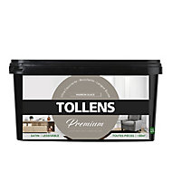Peinture Tollens premium murs, boiseries et radiateurs marron glacé satin 2,5L