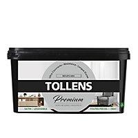 Peinture Tollens premium murs, boiseries et radiateurs reflets gris satin 2,5L