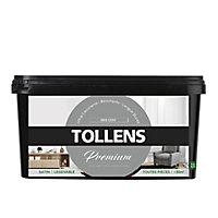 Peinture Tollens premium murs, boiseries et radiateurs gris cosy satin 2,5L
