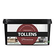 Peinture Tollens premium murs, boiseries et radiateurs moderne bordeaux satin 2,5L