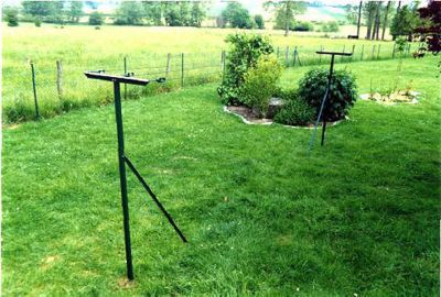 Etendoir linge de jardin plastifi castorama for Hauteur fil a linge