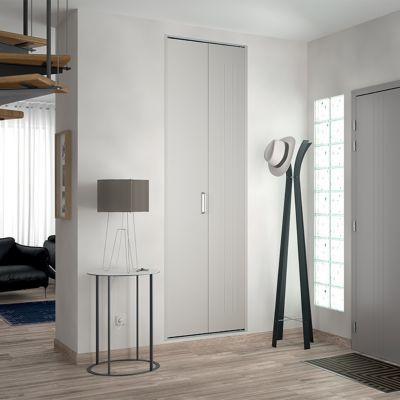 porte de placard pliante blanche kazed 62 x 205 cm castorama. Black Bedroom Furniture Sets. Home Design Ideas