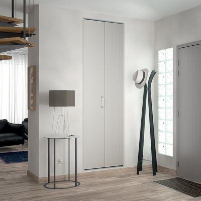 Porte De Placard Pliante Blanche KAZED X Cm Castorama - Porte placard coulissante et demi porte intérieure