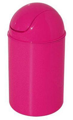 Poubelle à bascule rose GELCO Infinity 6L