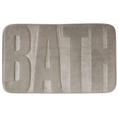 Tapis de bain antidérapant taupe 45 x 75 cm Bath
