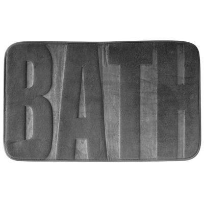 Tapis de bain antidérapant gris 45 x 75 cm Bath
