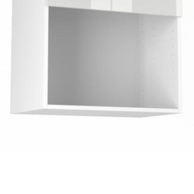 Niche micro-ondes Blanc Silver/Simply - Matière : Mélaminé Ép. 16 mm - Dimensions : L. 60 x H. 43,2 x P. 37,1 cm - Coloris : Blanc - A monter soi-même - Garantie : 2 ans -