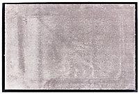 Tapis en microfibres taupe 60x90 cm avec semelle en PVC