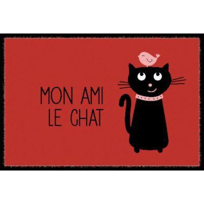 Paillasson int rieur 40 x 60 cm mon ami le chat castorama for Castorama mon compte