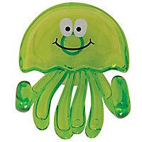 Crochet en plastique vert à ventouse Medusa