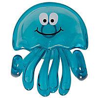 Crochet en plastique bleu à ventouse Medusa