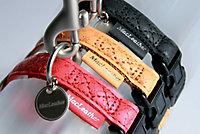 Collier réglable Mc Leather 10mm jaune