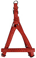 Harnais réglable Mc Leather 15mm rouge