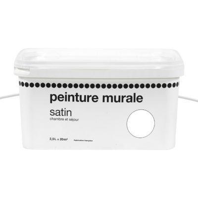 Peinture murs 1ER PRIX A DAMIER Acrylique blanc satin 2,5L