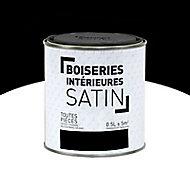 Peinture Murs et boiseries Noir Satin 0,5L