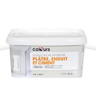 Sous-Couche Plâtre Et Ciment Colours 2,5L   Castorama