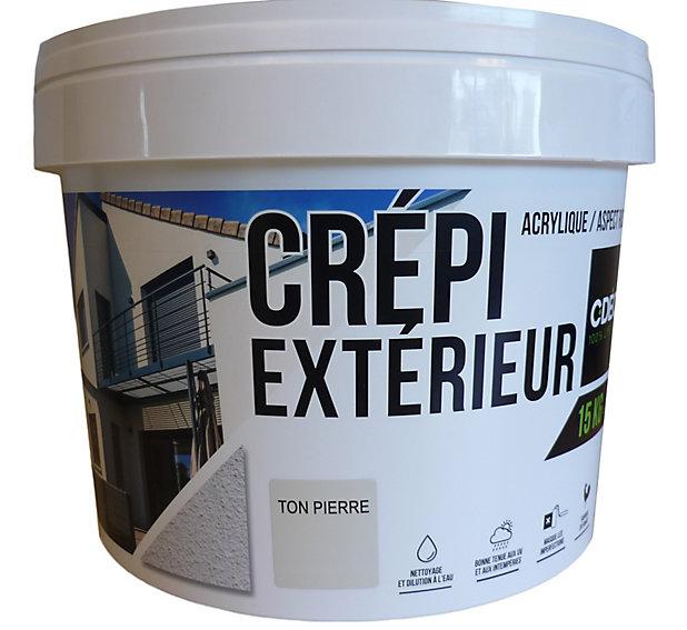 Crepi Facade Exterieur Cdeco Ton Pierre 15 Kg Castorama