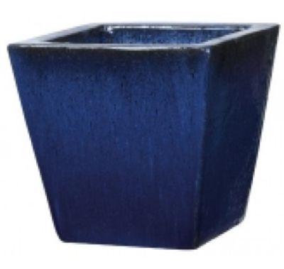 Pot Carré Terre Cuite Deroma Pekin Bleu 30 X 30 X H29 Cm Castorama