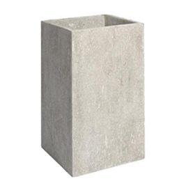 Pot cube haut Gypse 27 x 27 cm