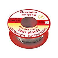 Bobine d'étain spéciale électronique Castolin ø1 mm, 250g