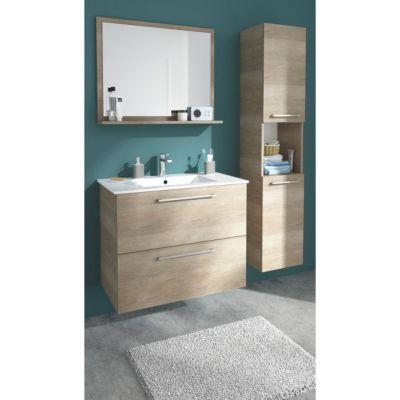 Meuble de salle de bains décor bois naturel 80 cm Noé | Castorama