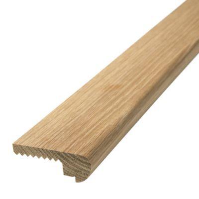 Nez de marche chêne à coller 26 x 68 mm L.2 m | Castorama