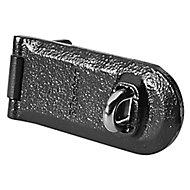 Moraillon et demi-anneau Master Lock Noir 140 mm