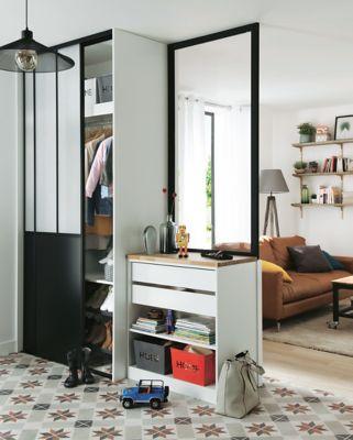 Lot De 2 Portes De Placard Coulissantes Atelier 120 X 250 Cm