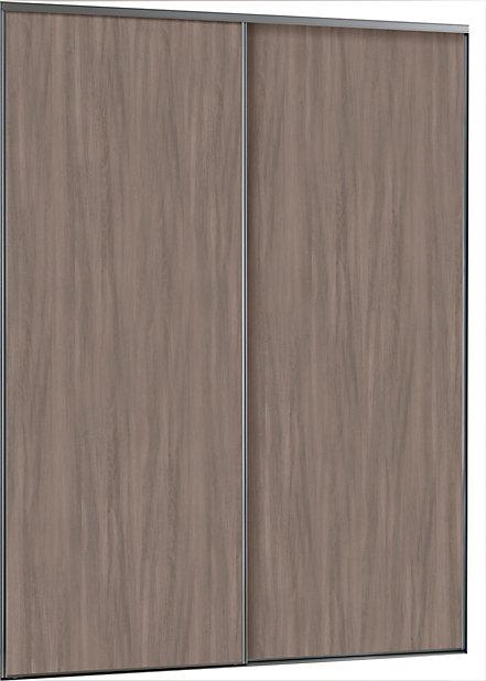 2 Portes De Placard Coulissantes Ravello Decor Chene Grise 150 X 250 Cm Castorama