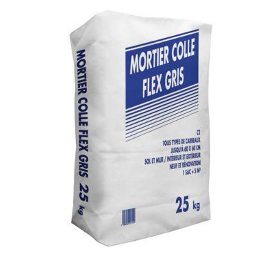 Mortier Colle Spéciale Sols Et Murs Extérieurs Flex C2 25kg Castorama