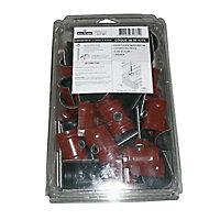 Kit de 50 fixations pour plaque Alizé rouge
