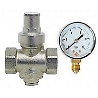 Réducteur de pression 20x27 + manomètre