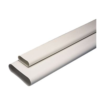Gaine Oblong Rigide Aldes 100 X 40 Mm 1 M Castorama