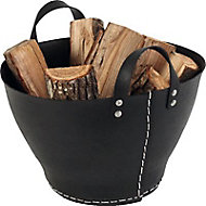 Rangement à bois Paros noir
