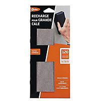3 patins d'abrasif céramic grain moyen