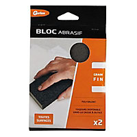 Lot 2 blocs abrasifs grain fin