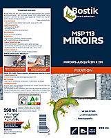 Mastic de Fixation Bostik MSP 113 pour Miroirs Blanc Cartouche 290 ml