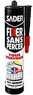 Mastic de Fixation Sader Fixer Sans Percer Tous Travaux - Blanc Cartouche 290ml