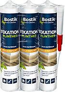 Colle Parquets Bostik Fixation Plinthes Cartouche 310 ml - Lot de 3